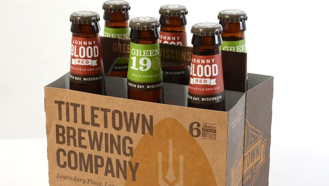 Titletown's Johnny Blood Red and Green 19 IPA are now available in local stores.