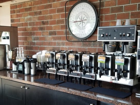 Broadway Bagels and Deli in Downtown Stuart has a coffee