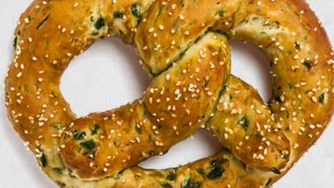 A jalapeno Bavarian pretzel from Brezel