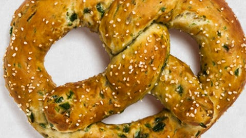 A jalapeno pretzel from Brezel, opening in Over-the-Rhine