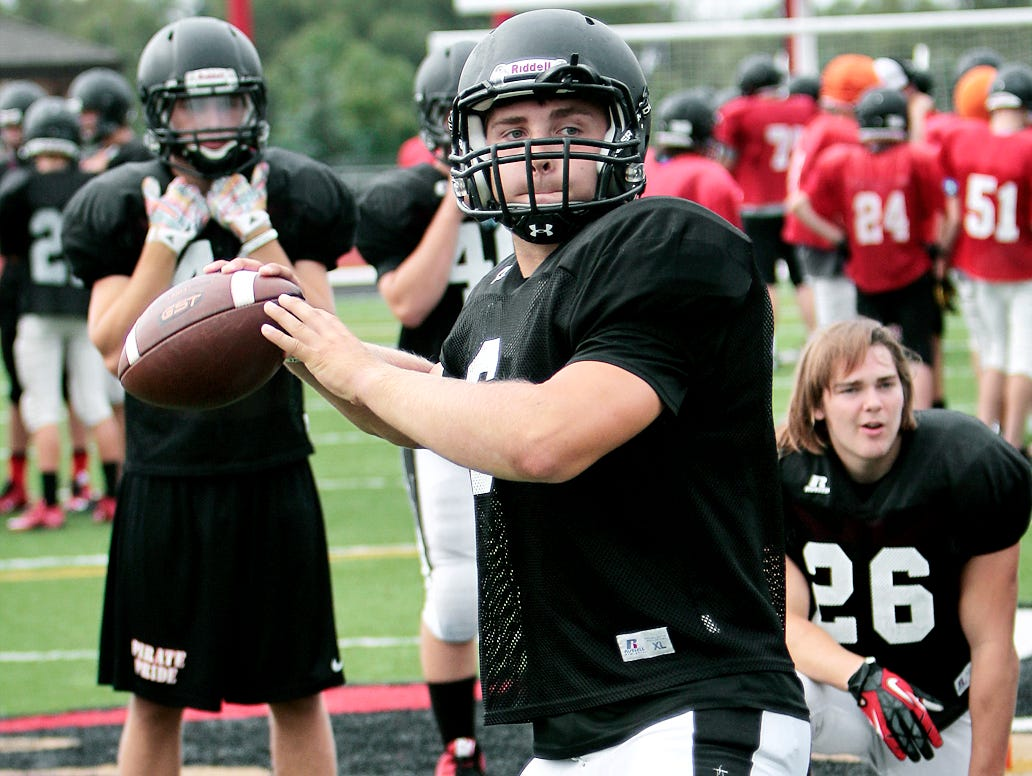 Senior Austin Staebler led Pinckney to its second win in a row Friday night. The Pirates beat Milford 31-7.
