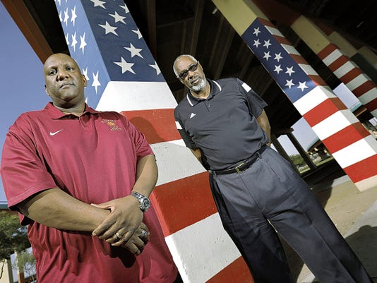MARK LAMBIE—EL PASO TIMES The El Paso Times' coaches of the year are Ty Burns of El Dorado and Jim Forbes of Andress.