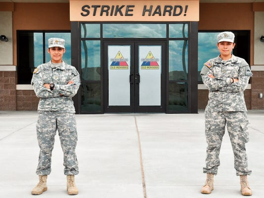 2nd Lt. Amy Colon, left, is a Bradley commander with 2nd Brigade and 2nd Lt. Melissa Vargas is a battalion assistant fires support officer who will soon become a Bradley commander.
