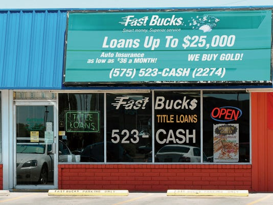Robin Zielinski- Sun-News   Pictured is Fast Bucks of Las Cruces located at 2225 E. Lohman Ave. on Wednesday.
