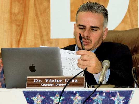 City Council Dr. Victor Cruz questioned members of the Interstate Stream Commission on the financial responsibilities for those who join into a Joint Powers Agreement for the CAP Entity that will oversee a Gila River diversion project.