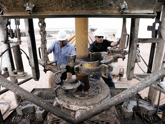 MARK LAMBIE — EL PASO TIMES  El Paso Water Utilities drills additional wells near the El Paso International Airport to bolster the city's water supply.