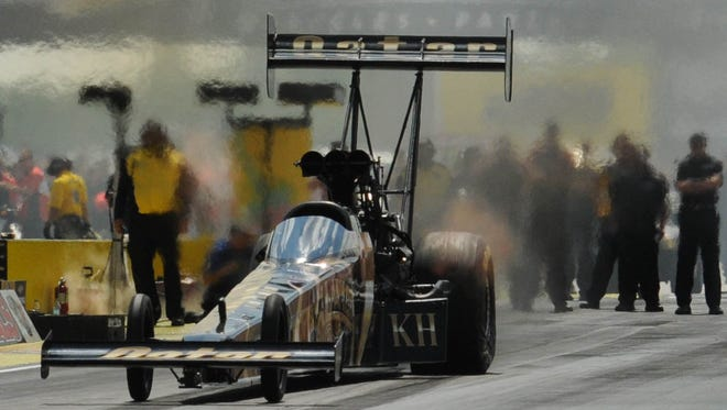 Shawn Langdon during the 2013 US Nationals Finals at Lucas Oil Raceway.