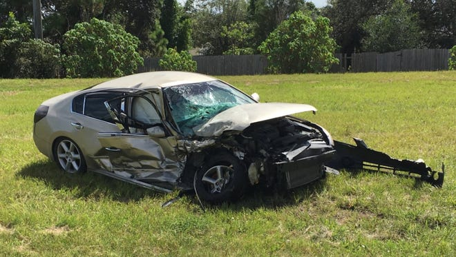One person was airlifted Thursday morning from a two-car crash on Grissom Parkway near Phyllis Way.