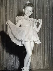 Ginger Prince as a child performer, 1940s