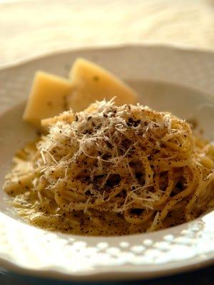 The Spaghetti Cacio e Pepe made by Chef Gina Stipo, At The Italian Table on Frankfort Avenue.