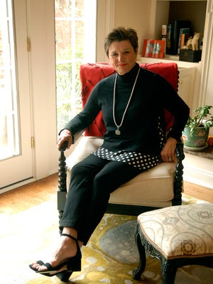 Stylemaker Bonnie Vatter poses in her Prospect home.  Dec. 16, 2016