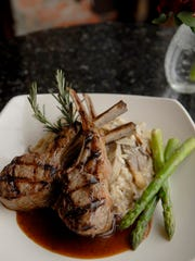 Rack of lamb with Madeira wine sauce at Porcini on