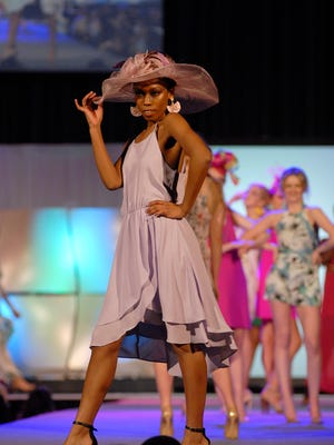 Models on the runway of the Macy's Kentucky Derby Festival Spring Fashion Show at the Horseshoe Casino. March 29, 2018