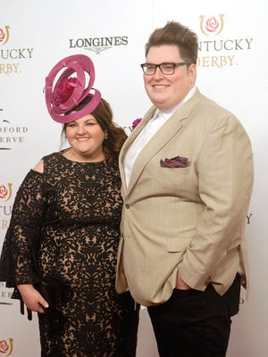 Voice winner Jordan and Kristin Smith poses for a photo on the Derby red carpet.   May 05, 2018