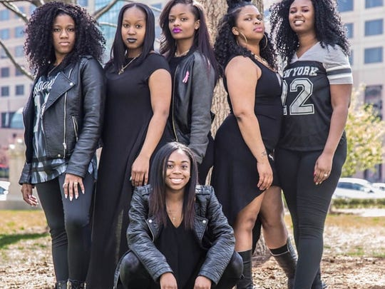 Olivia Bell (center front) is part of a group called Lassie Empowerment, which works to support girls 10-25 dealing with depression, pregnancy, bullying and poor self-image. Also pictured: Cassandra Perkins, Denise Johnson, Kristen Gale, Megan Campbell and Jourdan Johnson.