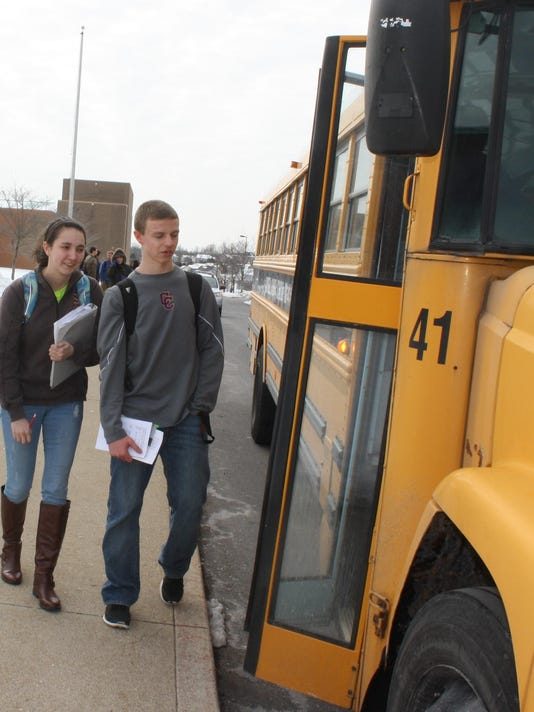 Campbell students step onto bus