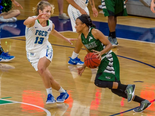 USC Upstate senior guard Raven Jefferson leads the Spartans in scoring and had 15 points in FGCU's home win against the Spartans on Jan. 23. FGCU plays at USC Upstate on Saturday.