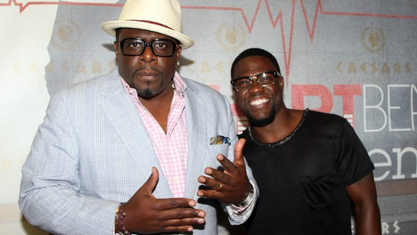 """Comedians Cedric """"The Entertainer"""" and Kevin Hart arrive"""