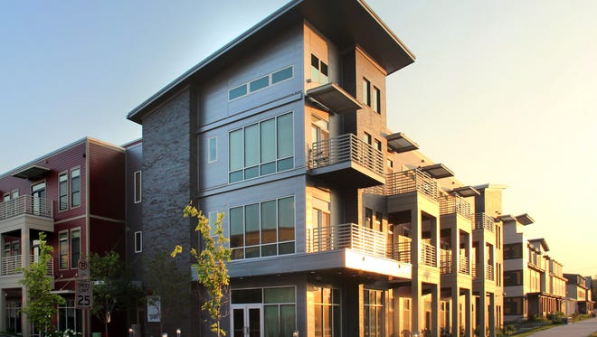 The award-winning first phase of Westlawn Gardens includes mid-rise apartment buildings.