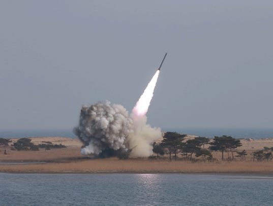 North Korea fires missiles into sea after U.S. ratchets up sanctions