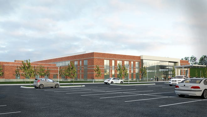 An artist's rendering of the planned Brighton Health Center South.