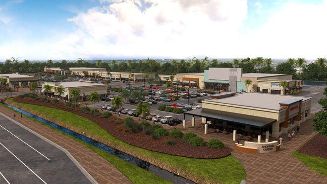 A rendering of the forthcoming Daniels Marketplace in south Fort Myers. The 145,000-square-foot project will be home to Lee County's first Whole Foods, among other tenants.