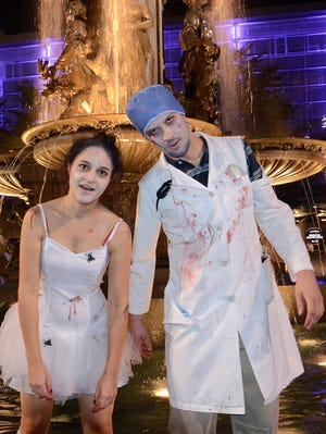 Natalee and Casey at the Cincinnati Zombie Walk in 2013.