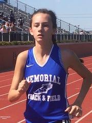 Memorial junior cross country runner Presley Warren already holds six school records