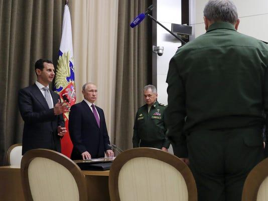 Bashar Assad,Vladimir Putin,Sergei Shoigu
