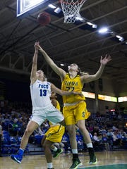 Florida Gulf Coast University senior Jordin Alexander shoots a layup during Friday's game against Siena College at Alico Arena. Alexander scored 6 points in FGCU's win.