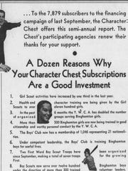 An advertisement from the Binghamton Character Chest