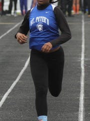 St. Peter's Alysse Wade won a district title in the 100 meter hurdles and was a regional qualifier in three events Saturday.