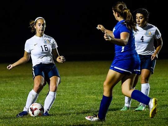 River Valley senior captain Sarah Castle controls the