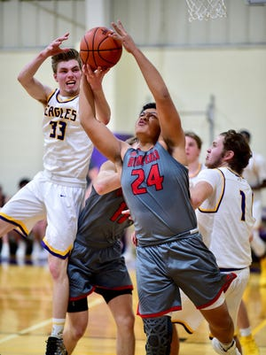 PCA's Matt Malcolm (33), shown from earlier this season, is planning on pursuing academics in college. He doesn't plan to play basketball at the next level.