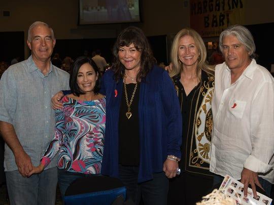 Jon Rogers, left, Lory Rogers, Dede Rogers, Isha Rogers, and Steve Santamaria