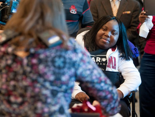 Marquisha Jones, who was paralyzed by a stray bullet,