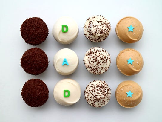 The special DAD cupcakes box at Sprinkles.