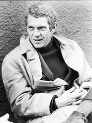 """Steve McQueen relaxes on the set of the 1968 film """"Bullitt"""""""