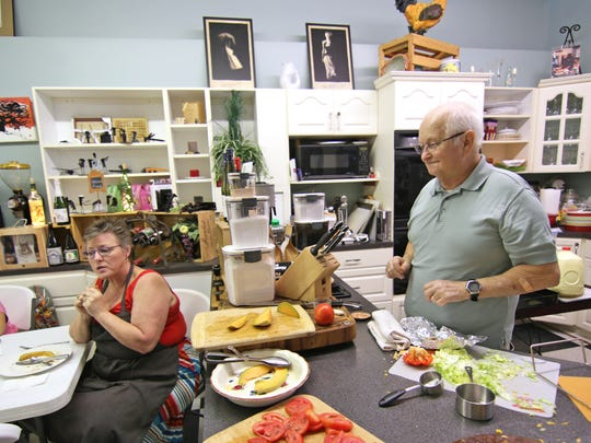 Gay and Mac McLeskey of Kitchen Emporium & Gifts at 311 North Main Street in downtown Anderson.
