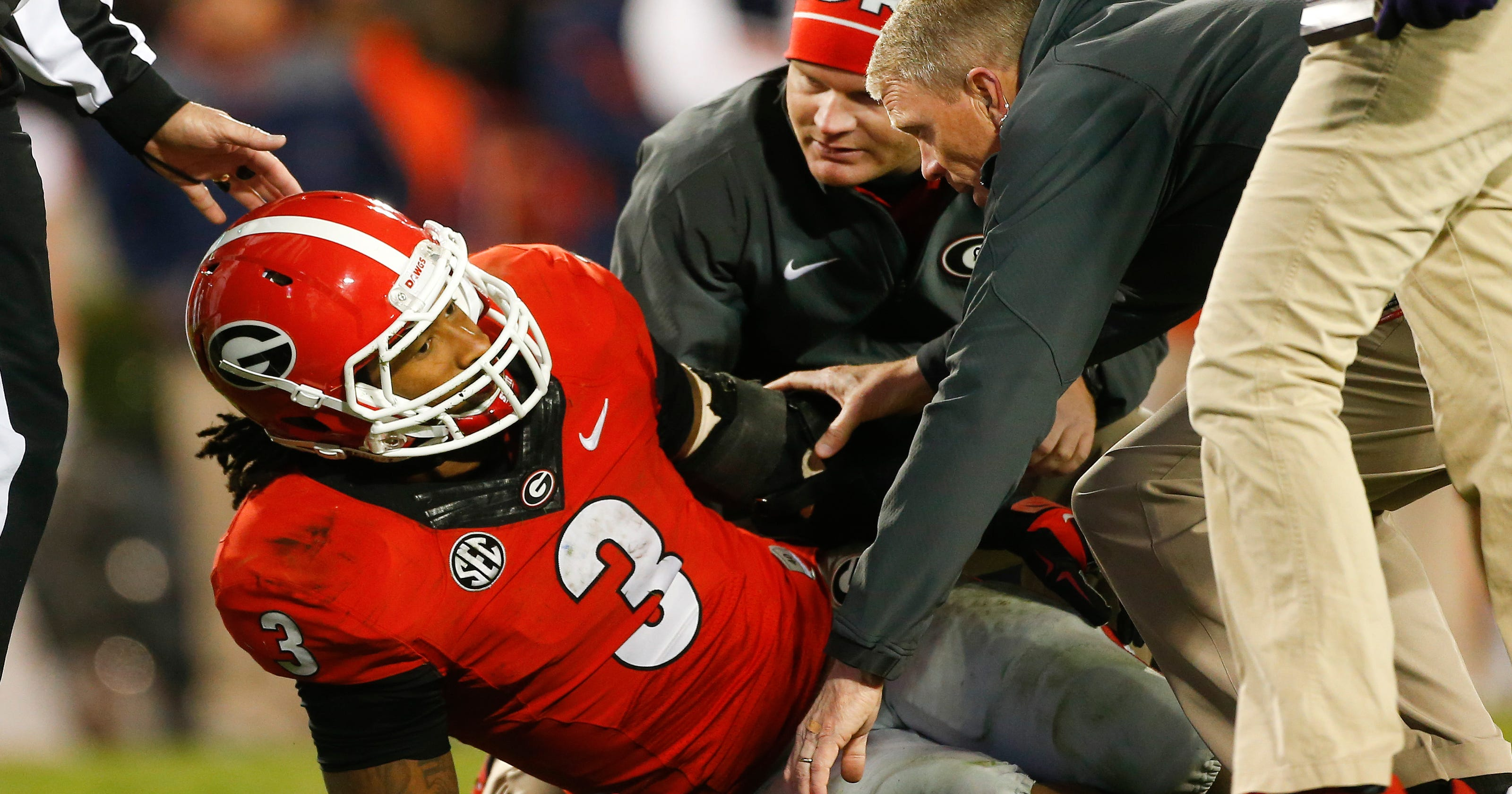 2e3c230b5 Georgia loses Gurley to season-ending knee injury
