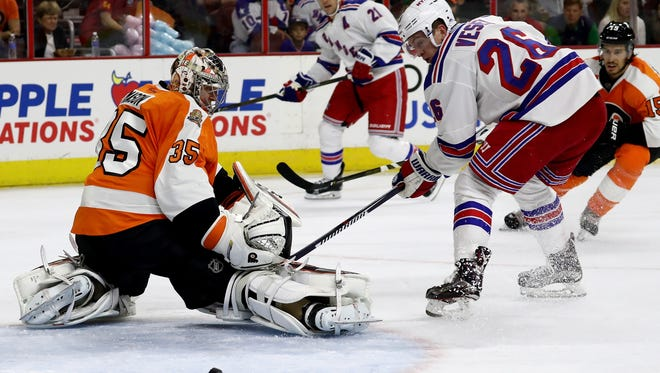 Steve Mason will probably get a sixth straight start for the Flyers.