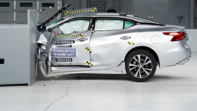 Nissan's Maxima received top marks in the IIHS safety survey.