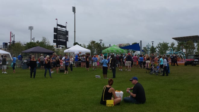 Saturday's Burger Battle by the Bay drew more than 1,000 people to Community Maritime Park.