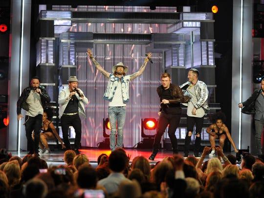 Florida Georgia Line and the Backstreet Boys perform