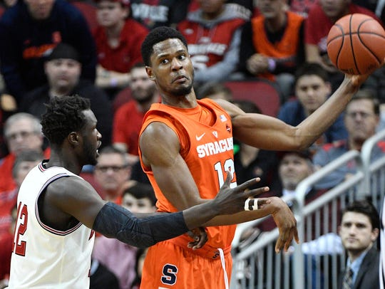 Former Syracuse center Taurean Thompson will be eligible at Seton Hall in the fall.