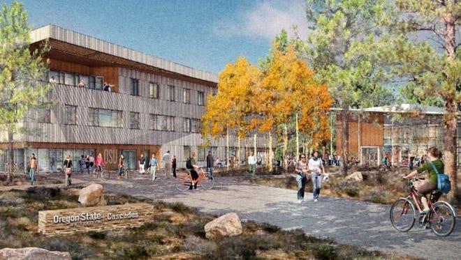 OSU Cascades campus rendering