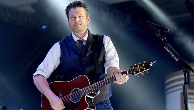 """Blake Shelton hosts """"The 50th Academy of Country Music Awards"""" on Sunday with Jason Aldean."""
