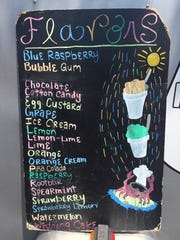 Flavors at Koby's East Coast Snowball Stand include