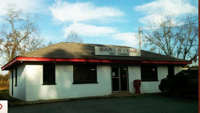 Hot Thomas Bar-B-Que has operated out of this former store south of Watkinville since 1984. The restaurant closes Saturday.