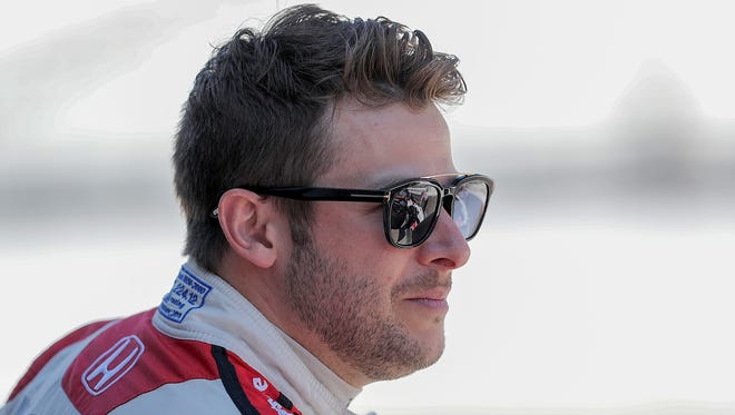 Andretti Herta Autosport with Curb-Agajanian IndyCar driver Marco Andretti (98) during Carb Day at the Indianapolis Motor Speedway on Friday, May 25, 2018.